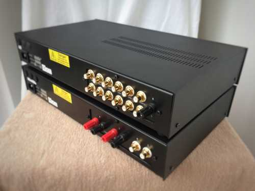 Croft Valve pre 25 power 7 amplifier - rear